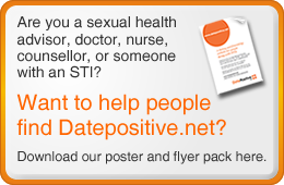 Button -  &quot;Help others find Datepositive.net. Download our poster and flyer here&quot;